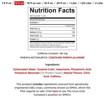 diet coke info